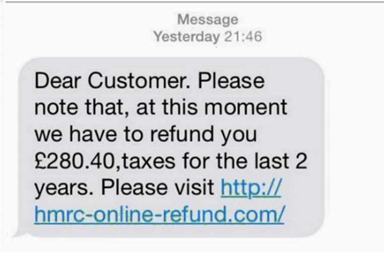 scam text message
